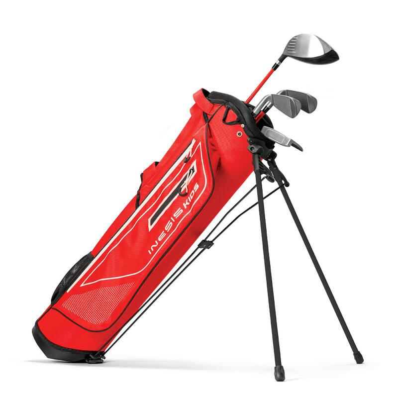 DĚTSKÉ GLFOVÉ VYBAVENÍ Golf - GOLFOVÝ SET PRAVÁK 8–10 LET  INESIS - Golfové hole a sety