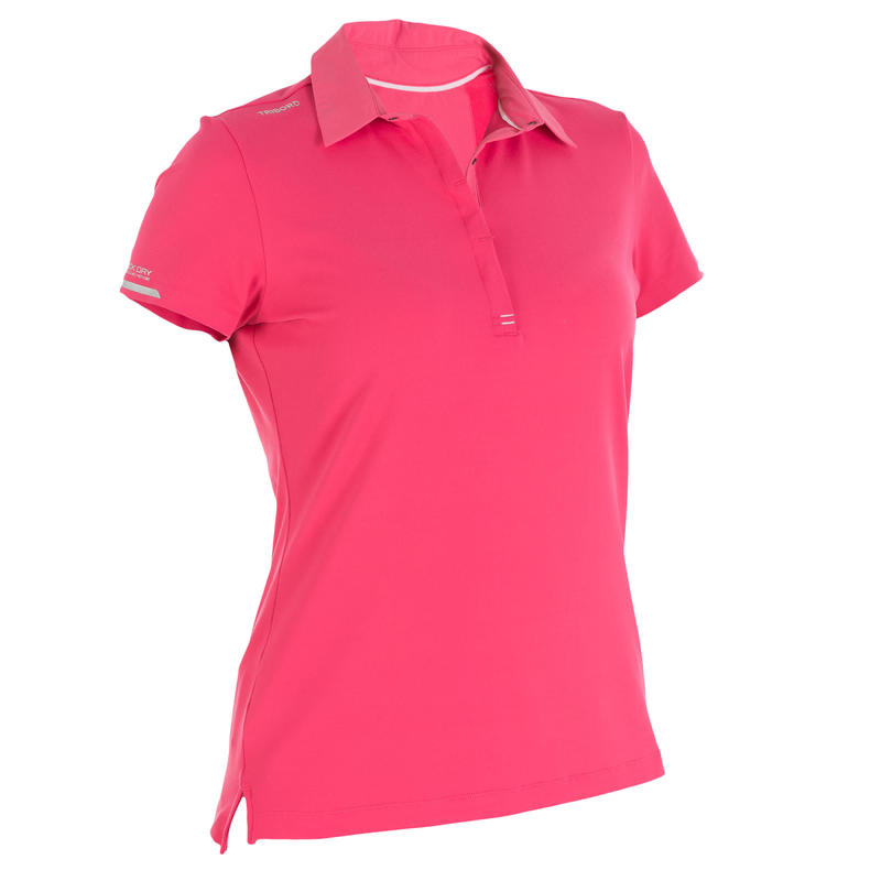 Women's Race short-sleeved sailing polo shirt pink