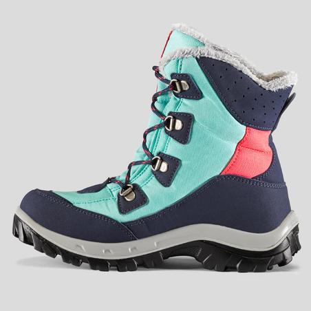 Kids Winter Hiking Boots SH500 Warm High - Green
