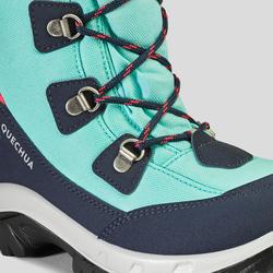 Chaussures chaudes de randonnée d'hiver enfant SH500 chaudes hautes verte