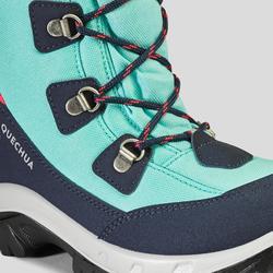Botas de Caminhada impermeáveis SH500 Warm Criança - Turquesa