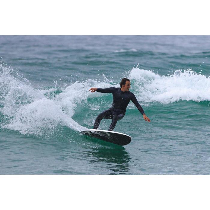 773e8b3828 Tabla Surf Espuma Shortboard Olaian 900 6  Adulto Blanco Negro Quillas