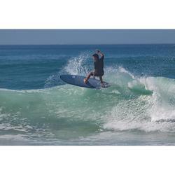 Tabla Surf Espuma Shortboard Olaian 900 7' Adulto Azul Gris Estampado Quillas