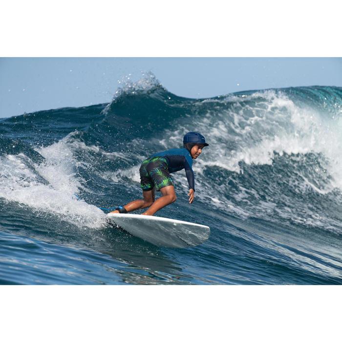 Bañador Largo Surf Olaian 900 Tween Neon Palme Niño Verde