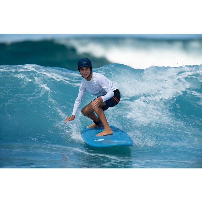 Lange Boardshorts Surfen 500 Tween Light Kinder blau/schwarz