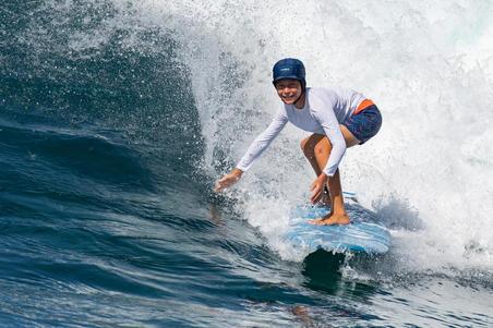 500 Kids' Short Surfing Boardshorts - Chibou Red