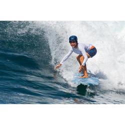 Kurze Boardshorts Surfen 500 Chibou Kinder rot
