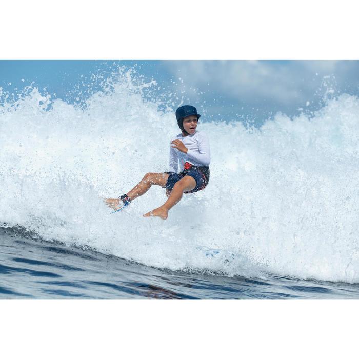 Bañador Largo Surf Olaian 500 Tween Light Niño Rojo