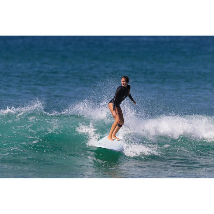 Tabla Surf Espuma Longboard Olaian 900 9' Adulto Turquesa Azul Estampado Quillas