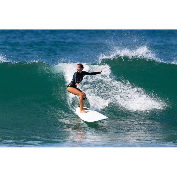 Shorty de surf femme manches longues fermeture sans zip