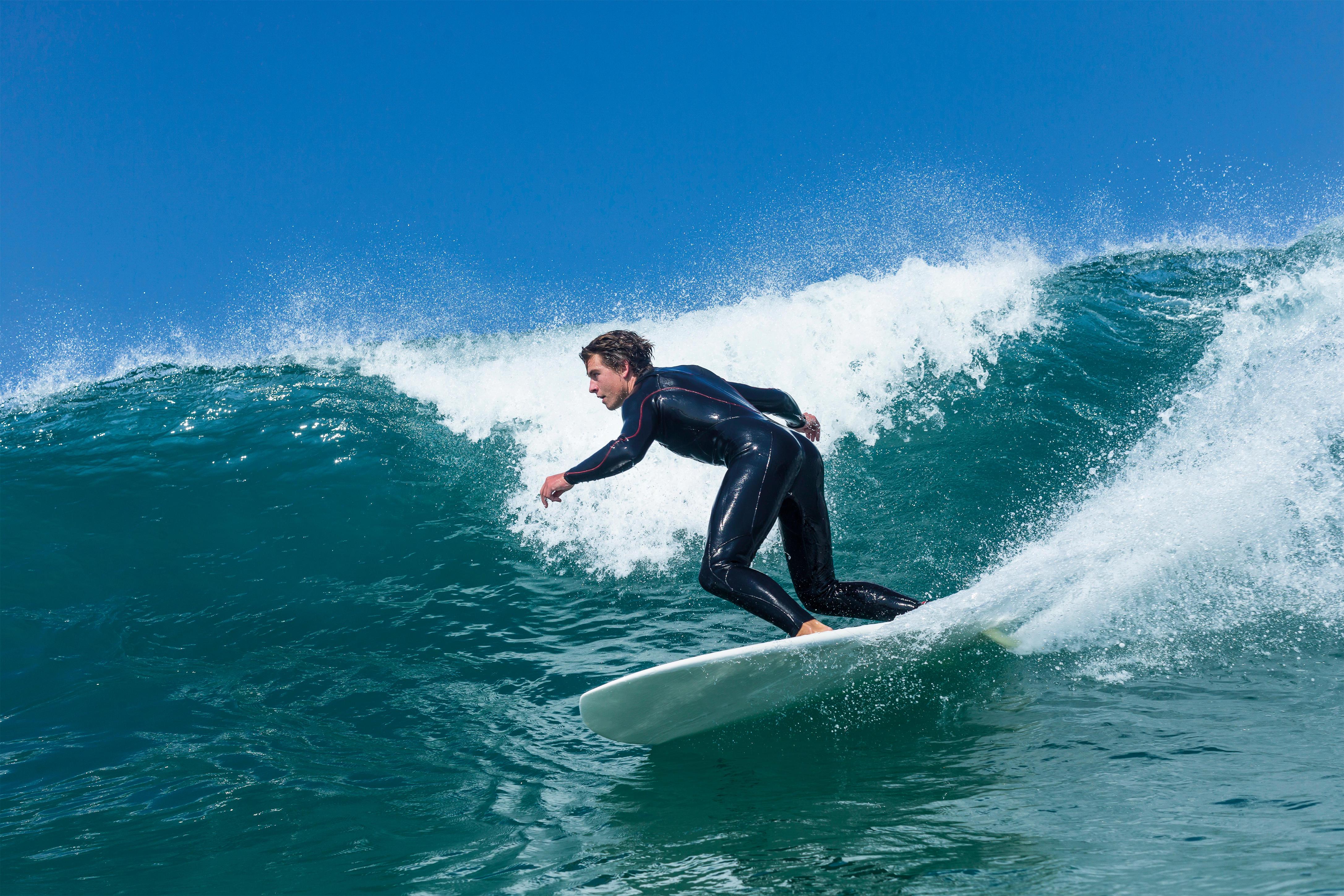 Combinaison Surf 900 Néoprène 3/2 mm Zip Poitrine Homme Noir