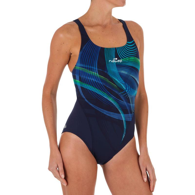 Women's one-piece chlorine-resistant swimsuit Kamiye Tip - Green