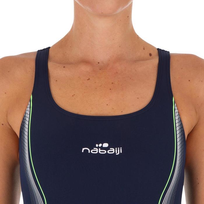 Bañador Natación Piscina Nabaiji Kamiye Mujer Forma Espalda X Competición Verde