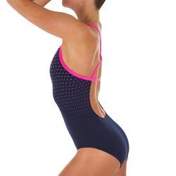 Sportbadpak voor zwemmen dames chloorbestendig Jade Laz roze