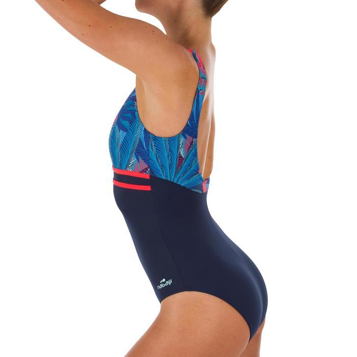 Bañador de natación para mujer Loran negro Pal azul