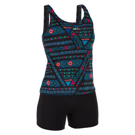 Women's Swimming 1-piece Tankini Swimsuit Heva Afi - Black