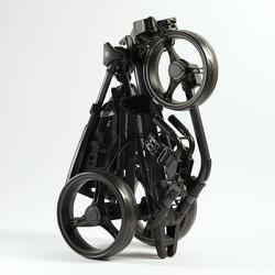 Golftrolley Compact 3-Rad schwarz