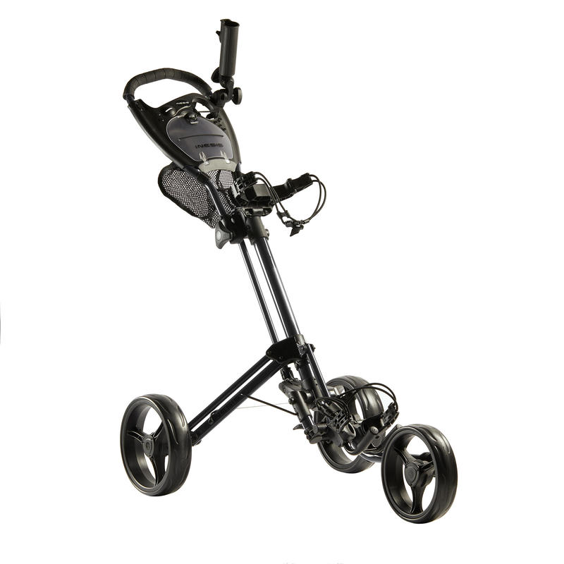 3-WHEEL COMPACT GOLF TROLLEY BLACK