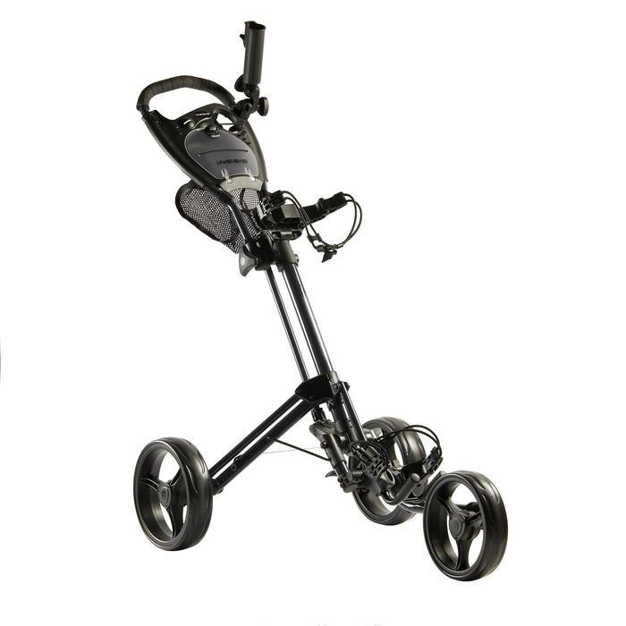 Opbergnet voor golftrolley met drie wielen