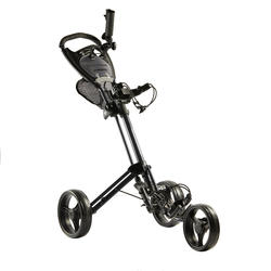 THREE-WHEEL COMPACT GOLF TROLLEY - BLACK