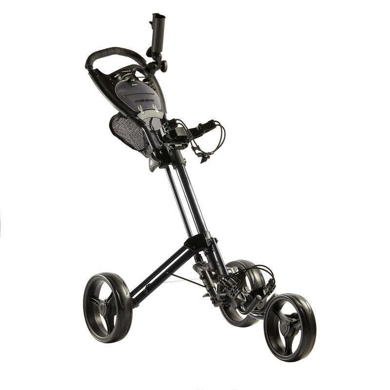 GOLF TROLLEYS Golf - 3-WHEEL TROLLEY BLACK INESIS - Golf