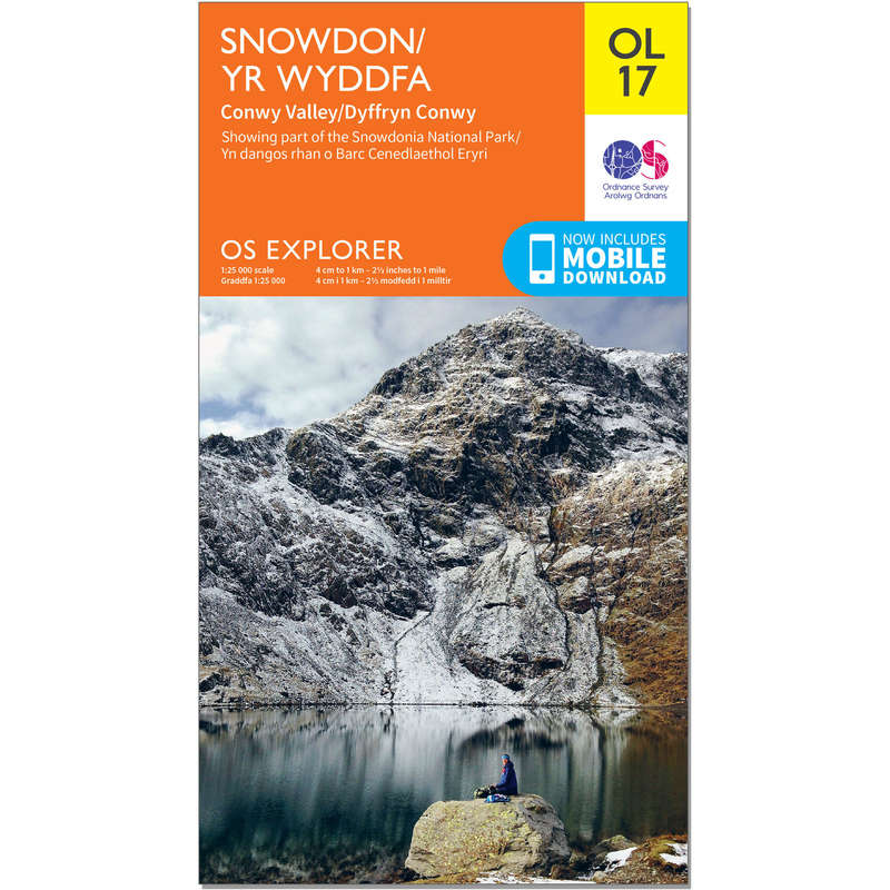 MAPS HIKING/TREK Hiking - OS Explorer Leisure Map - OL17 - Snowdon & Conwy Valley ORDNANCE SURVEY - Hiking Gear and Equipment