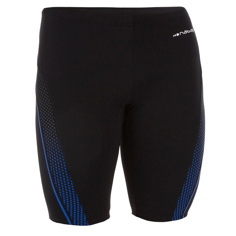 FIRST 500 MEN'S JAMMER SWIMSHORTS BLACK TAB GREY BLUE