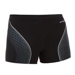 Zwemboxer heren 500 Fit zwart dash grijs