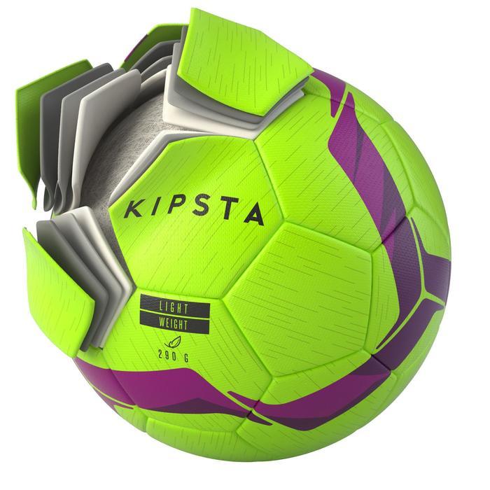 Voetbal F500 hybride light maat 5 rood/blauw
