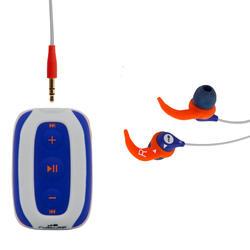 Lecteur MP3 étanche de natation et écouteurs SwimMusic 100 V3 Blanc Orange Gris