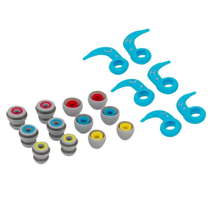 Reproductor MP3 estanco de natación y auriculares SwimMusic 100 V3 blanco azul