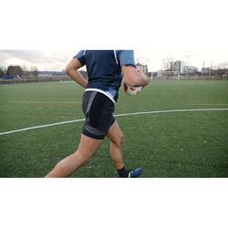 Short de rugby R900 adulte noir gris