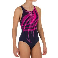Kamiye Girl's Chlorine-Resistant One-Piece Swimsuit