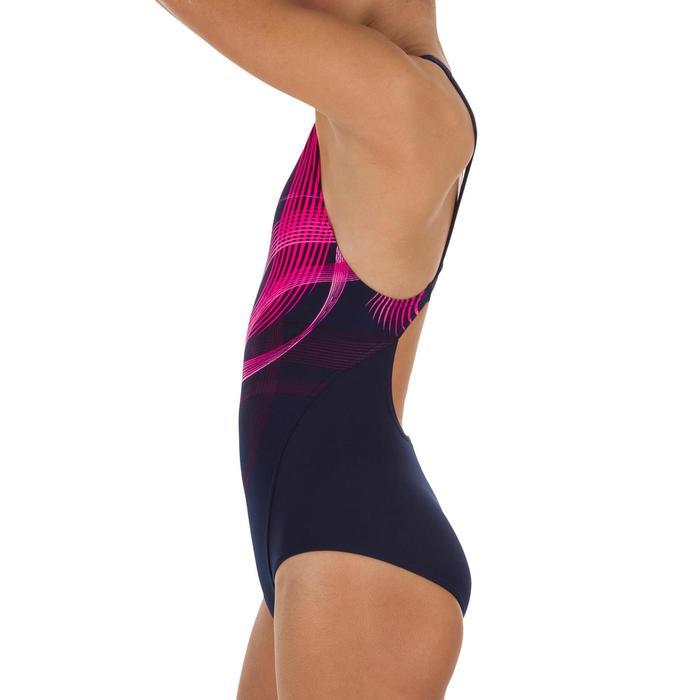 Bañador de natación una pieza niña resistente al cloro Kamiye
