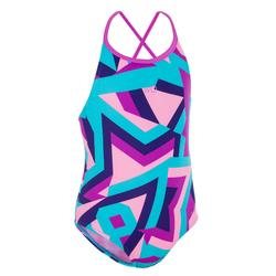 Sportbadpak voor meisjes Riana Sta blauw