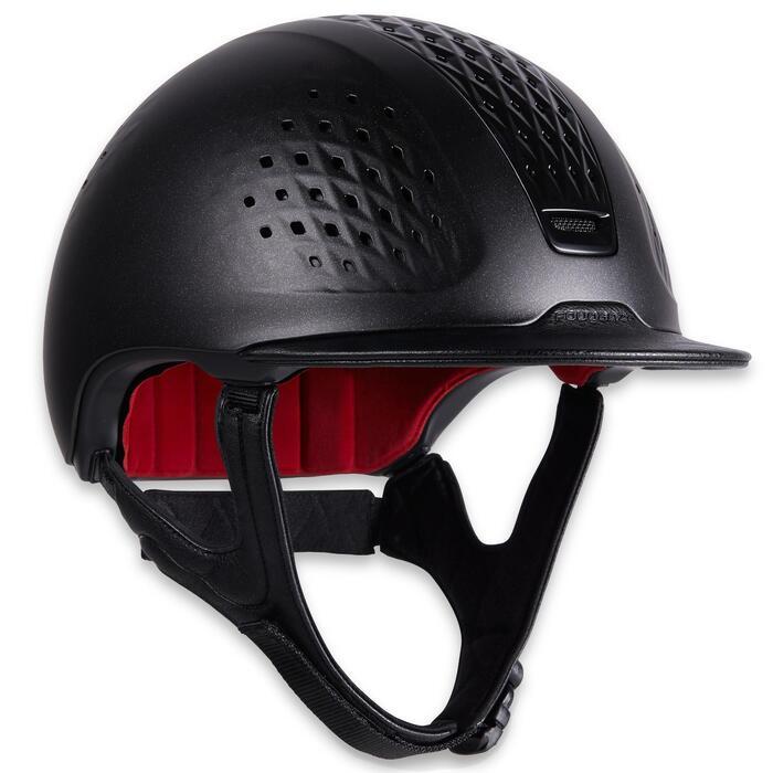 Reithelm 900 schwarz mit Schutzhülle
