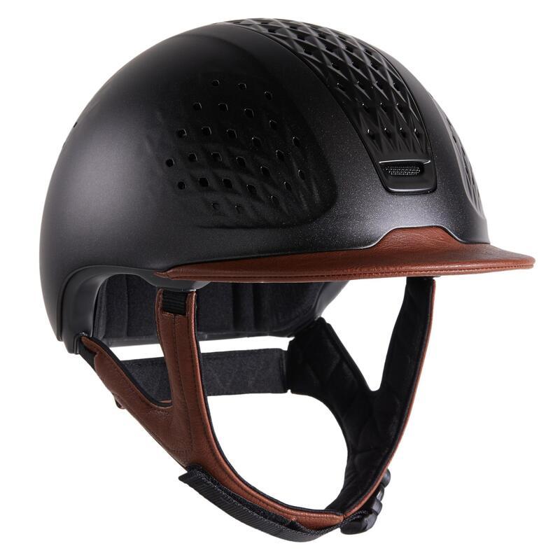 Casco Equitación Fouganza 900 Marrón/Negro + Bolsa