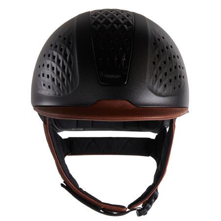 900 Horse Riding Helmet + Bag - Brown/Black