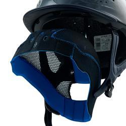 Casque équitation 900 bleu glossy + sac