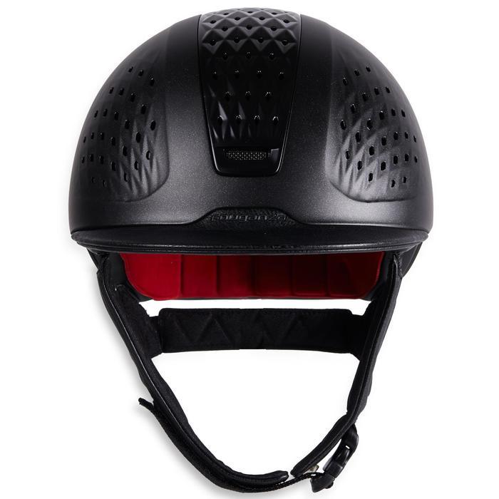 Paardrijcap 900 zwart + tas