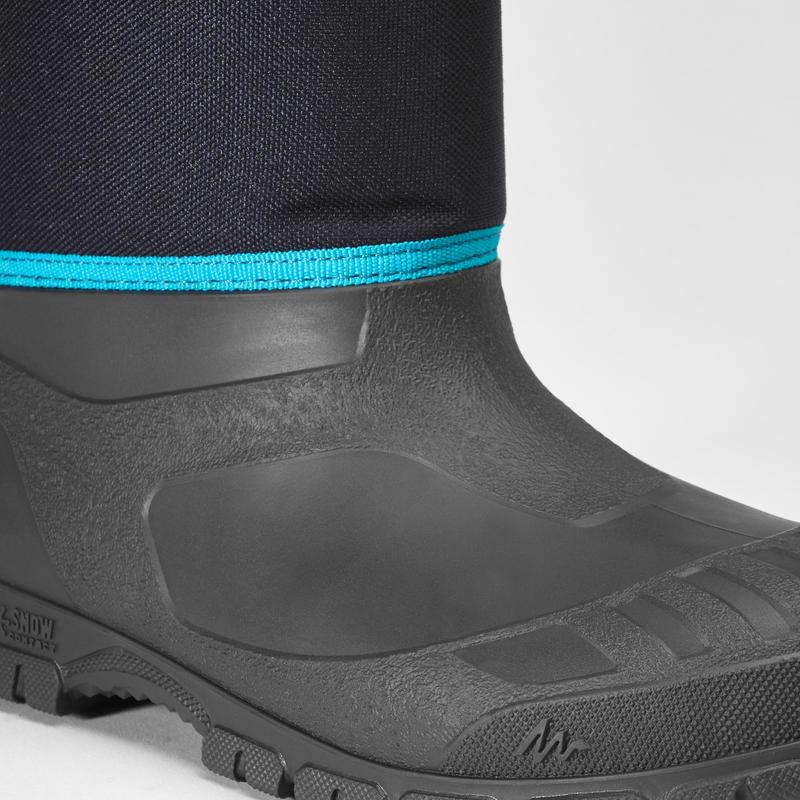 Bottes chaudes de randonnée neige enfant SH100 warm bleues