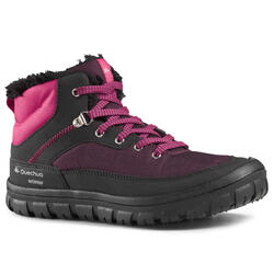 Warme en waterdichte wandelschoenen voor kinderen SH100 Warm veters 33-38