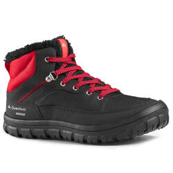 SH100 Warm JR Lace-Up Mid-Height Snow Hiking Boots - Black