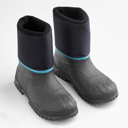 Bottes chaudes de randonnée neige enfant SH100 chaudes bleues