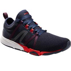 Herensneakers voor sportief wandelen PW 540 Comfort blauw / rood