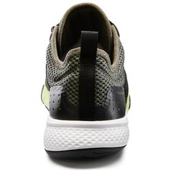 Herensneakers voor sportief wandelen PW 540 Comfort kaki / groen