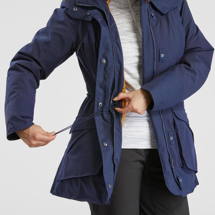 Winterjacke Winterwandern SH500 Ultra-warm Damen marineblau