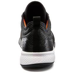Herensneakers voor sportief wandelen PW 540 Comfort zwart / oranje