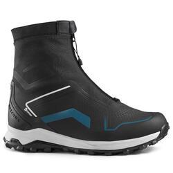 男款超保暖雪地健行中筒靴SH920-黑色。
