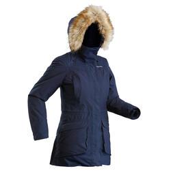 Chaqueta de senderismo nieve mujer SH500 ultra-warm azul marino